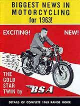 1963 BSA motorcycle brochure