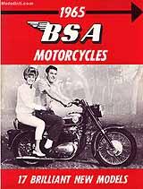 1965 BSA motorcycle brochure