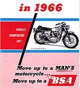 1966 BSA motorcycle brochure type 2