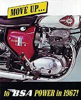1967 BSA motorcycle brochure