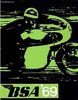 1969 BSA motorcycle brochure