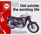 1970 BSA motorcycle brochure