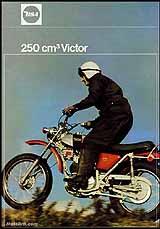 1971 BSA 250 Victor motorcycle UK brochure