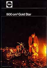 1971 BSA 500 Goldstar motorcycle UK brochure