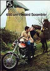 1971 BSA Firebird Scrambler motorcycle UK brochure