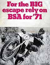 1971 BSA motorcycle brochure