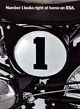 1971 BSA Victor 500 MX motorcycle brochure