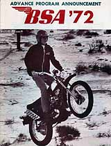 1972 BSA motorcycle brochure
