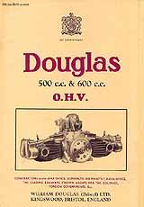 1934 Douglas OW,OW1 motorcycle brochure