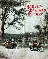 1927 Harley-Davidson motorcycle brochure