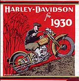 1930 Harley-Davidson motorcycle brochure