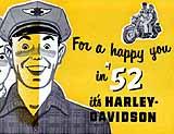 1952 Harley-Davidson motorcycle brochure