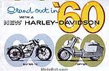 1960 Harley-Davidson motorcycle brochure