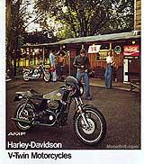 1977 Harley-Davidson motorcycle brochure