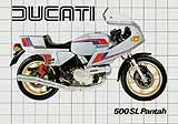 Ducati 500 SL Pantah motorcycle brochure
