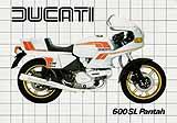 Ducati 600 SL Pantah motorcycle brochure