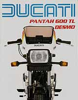 Ducati 600 TL Pantah motorcycle brochure