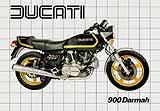 Ducati 900 SD Darmah motorcycle brochure
