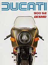 Ducati 900 S2 Desmo motorcycle brochure