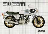 Ducati 900 SS motorcycle brochure