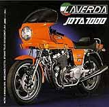 1981 Laverda Jota 1000 M motorcycle brochure