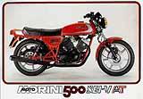 1981 Moto Morini 500 6 Valve motorcycle brochure