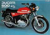 Ducati 500 GTL motorcycle brochure