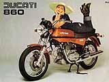 Ducati 860 GT motorcycle brochure