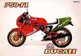 Ducati 750 F1 motorcycle brochure