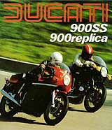 Ducati SS & Replica motorcycle brochure