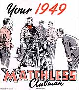 1949 Matchless motorcycle brochure