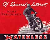 1956 Matchless motorcycle brochure