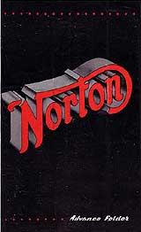 1945 Norton motorcycle brochure