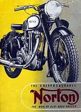 1949 Norton motorcycle brochure
