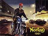 1961 Norton motorcycle brochure