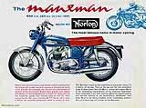 1961 Norton Manxman motorcycle brochure