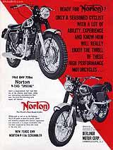 1968 Norton motorcycle brochure