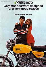 1970 Norton motorcycle brochure