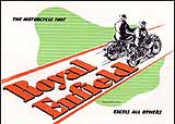 1948 Royal Enfield motorcycle brochure