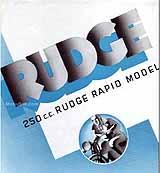 1936 Rudge 250 Rapid motorcycle brochure