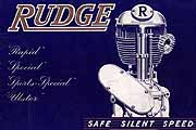 Vintage Rudge Motorcycle brochures