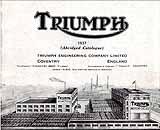 1937 Triumph motorcycle brochure