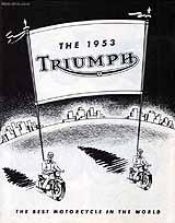 1953 Triumph motorcycle brochure