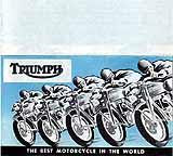 1954 Triumph motorcycle brochure