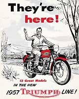 1957 Triumph motorcycle brochure