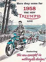 1958 Triumph motorcycle brochure