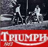1963 Triumph motorcycle brochure