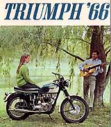 1966 Triumph motorcycle brochure