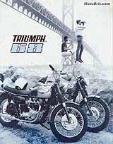 1968 Triumph motorcycle brochure