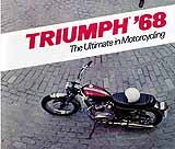 1968 Triumph motorcycle brochure style 2